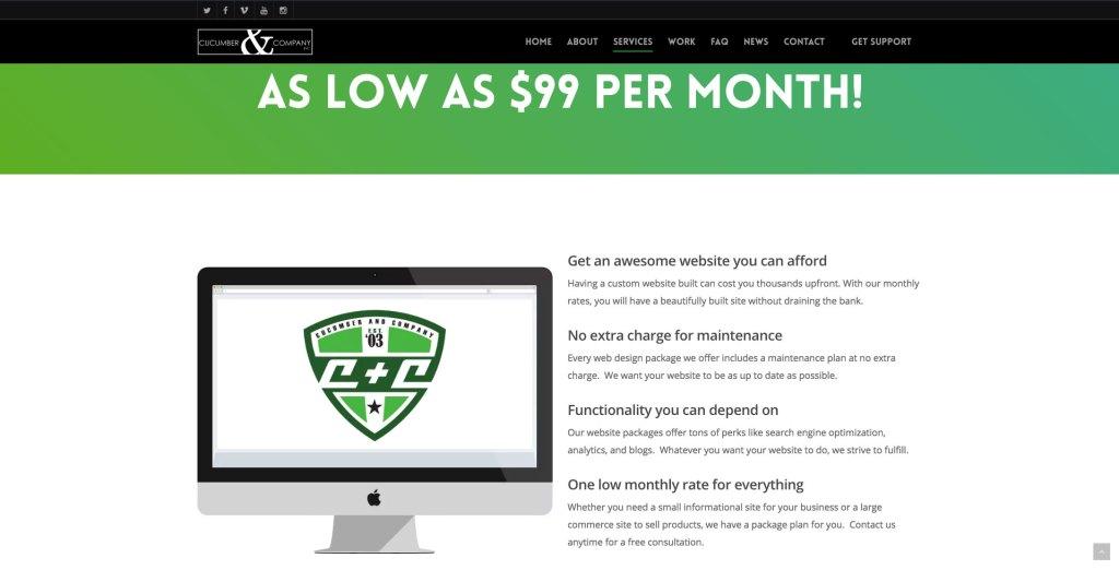 Cucumber & Company Website Services Leading west virginia web Design
