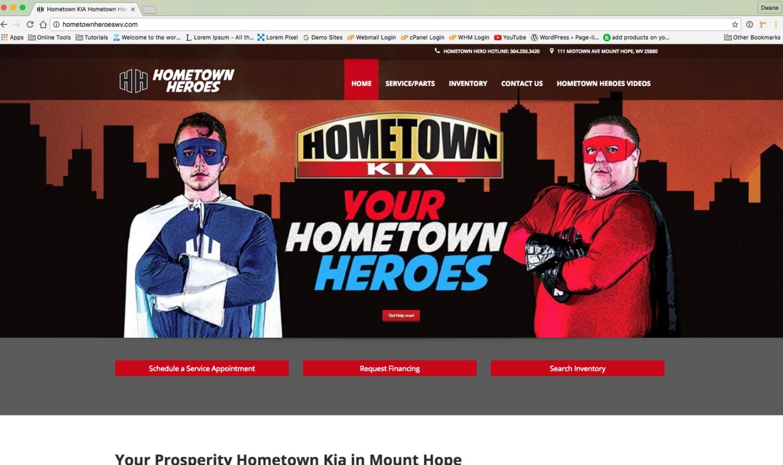 Hometown Kia Hometown Heroes Website West Virginia Web Design by Cucumber & Company