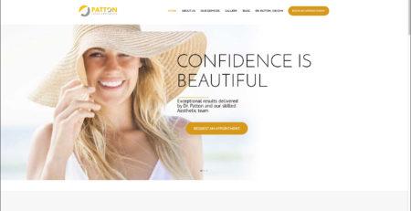Patton Laser Aesthetics Website Beckely WV Web Design and Digital Marketing