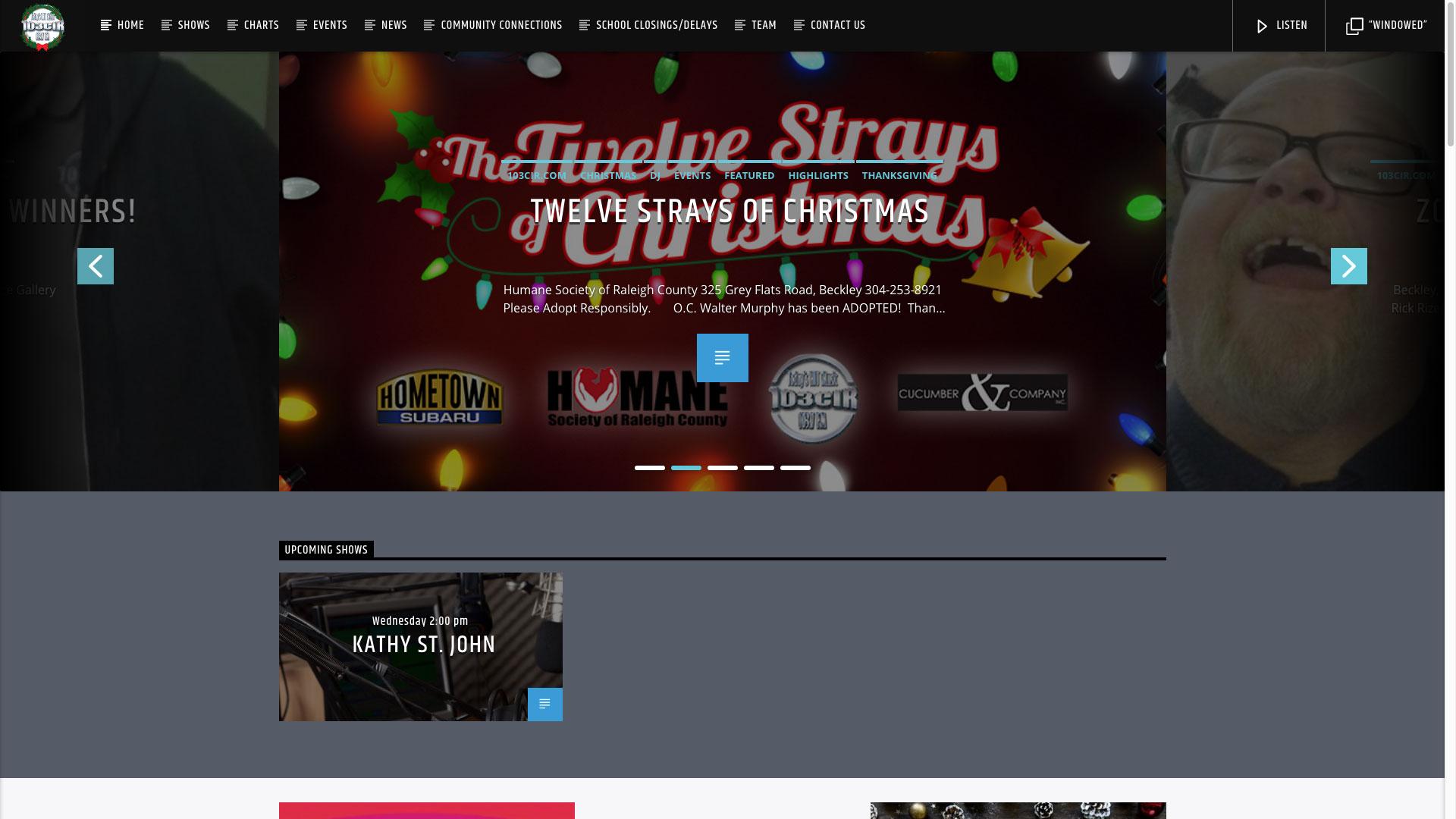 twelve strays of christmas graphic design post