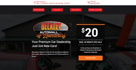 Beckley Automall of Lewisburg Cucumber & Company Web Design Lewsiburg WV