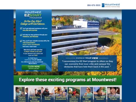 Mountwest Community & Technical College E-Z Start Program Cucumber & Co Web Design WV