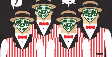 cucumber and company barber shop quartet christmas website radio advertisement