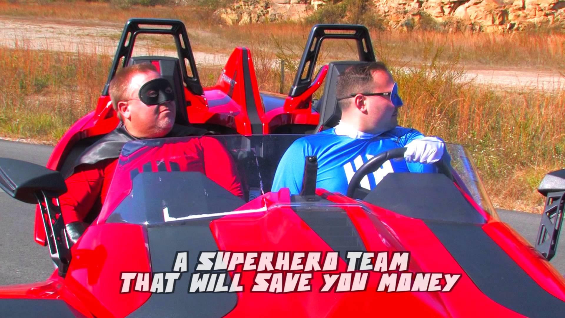 Hometown Heroes Superheros in vehicle Save you money Video Production Beckley