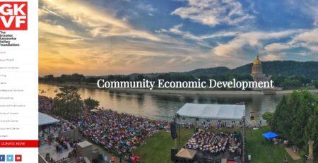 The Greater Kanawha Valley Foundation Cucumber & Company Website Design Charleston West Virginia